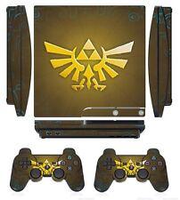 Zelda 255 Skin Sticker Cover for PS3 PlayStation 3 Slim and 2 controller skins