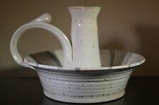 Artisan Studio Pottery single candle holder handle signed Loyd 89 Unknown #U