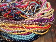 "Glass Pearls Glass Beads 4mm Assorted Wholesale Beads Bulk Beads 10-32"" Strands"