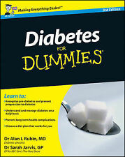 Diabetes For Dummies by Alan L. Rubin, Sarah Jarvis (Paperback, 2011)
