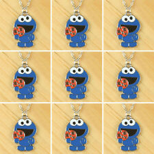 Lot 9pcs Baby Cookies Monster Charms Necklaces Girls Boys Birthday Party Gifts