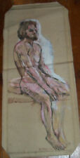 """""""PAINTING SKETCH"""" by Ruth Freeman ACRYLIC on unstretched canvas 12"""" X 30"""""""