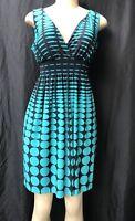 ENFOCUS STUDIO  Black & Green Above Knee Dress Enfocus Studio Size 6