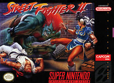 Incorniciato SUPER NINTENDO GAME Print – Street Fighter 2 (Arcade CAPCOM Classic Art)