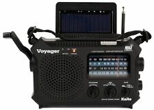 Newest Version! Kaito Black KA500L AM/FM Solar NOAA Weather Radio w/ USB Port!
