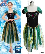 Dama adultos Frozen Princesa Reina Anna Traje Cosplay Disfraz cos004
