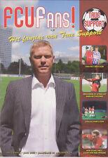 Programme / Magazine FC Utrecht FCU Fans Juni 2009 jaargang 04 nummer 04