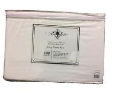 Amante Home 4 pc King Sheet Set - 400 Thread Count - White - New