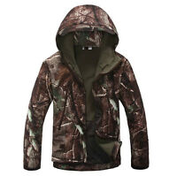 New Men Hunting Camouflage Clothing Waterproof Windproof Hooded Jacket