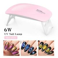 6W Fold Portable LED UV Lamp Nails Gel Curing Machine USB Cable Mini Nail Dryer