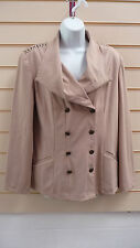 TOGETHER  LADIES JACKET BEIGE SIZE 10 STUD EFFECT SHOULDER  BLAZER BNWT (A002
