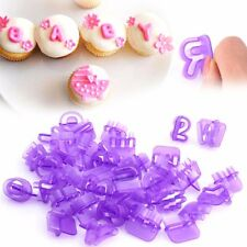 Alphabet Number Letter Press Set Mold Fondant Mat Cake Decor Cupcake Design CA