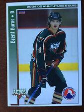 2004-05 Brent Burns Houston Aeros  Rare Rookie RC AHL