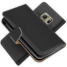 Handy Hülle Samsung Galaxy S6 Edge Schutz Etui Booklet Cover PU Leder Tasche