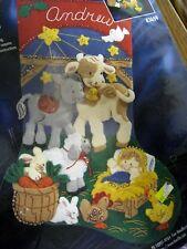 Christmas Bucilla Felt Applique Stocking Kit,AWAY IN A MANGER,Baby Jesus,#83689