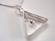 Triangle with Dangling Ball Pendant 925 Sterling Silver Corona Sun Jewelry