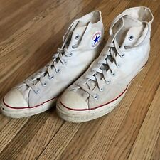 Vintage Vtg 50's 60's Converse Chuck Taylor All Star Hightops White 12 Shoes
