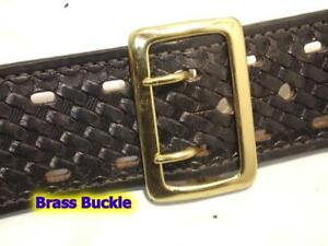 """NEW Replacement SOLID BRASS Buckle for 2.25"""" Sam Browne Police Duty Belt"""