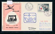 12590) LH FF Paris - Hamburg 1.4.64, SoU ab Monaco, Rotes Kreuz red cross