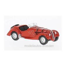 Oxford 218765 BMW 328 rouge échelle 1:76 maquette de voiture NEUF !°