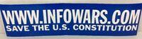 ALEX JONES INFOWARS.COM BUMPER STICKER SAVE THE U.S. CONSTITUTION ORIGINAL RARE