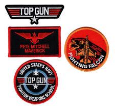 Maverick Top Gun School Name Badge Costume Patch (4PC Set - Hook Fastener )