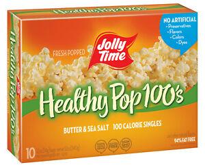 Jolly Time 100 Calorie Healthy Pop Kettle Corn Microwave Popcorn 1.2 Oz, 10 Ct