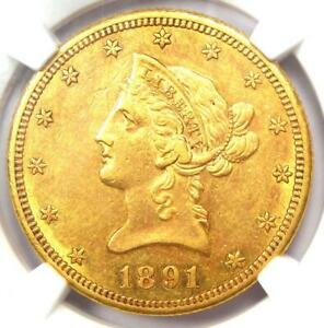 1891-CC Liberty Gold Eagle $10 - NGC Uncirculated Details (UNC MS) - Rare Coin!