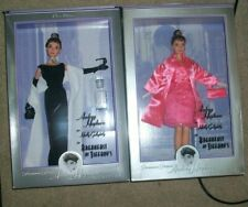 Audrey Hepburn Barbie Breakfast at Tiffany's & Holly Golightly Pink DRESS & DVD
