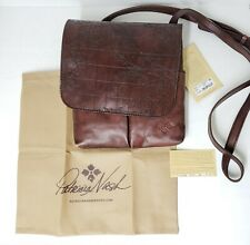 1509c9ede Patricia Nash GRANADA Vintage Leather Laser Map Rust Crossbody Bag $129.00  P6