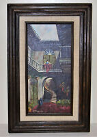 "S.Adams signed Original Framed Oil Painting vintage Mid 1960""s"