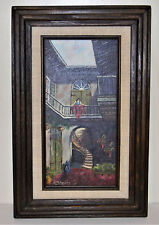 """Adams signed Original Framed Oil Painting vintage 1960""""s (Excellent condition)"""