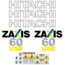 Hitachi ZX60USB LC Decals Stickers Kit - New Repro Decal kit