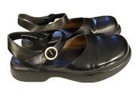 Dansko Shoes 41 Chunky Black Mary Jane Buckle Leather Cottagecore US Size 10.5