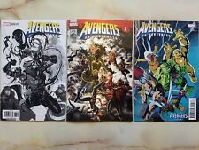 AVENGERS 675 NO SURRENDER LENTICULAR COVER + WAID / SKETCH VARIANTS MARVEL LOT
