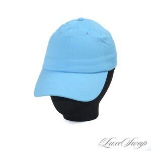 NWT Brooks Brothers Topaz Blue Stretch Cotton 6 Panel Baseball Dad Hat Cap S/M