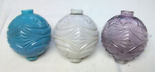 Moon and Star Lightning Rod Ball Lot: White Blue Amethyst Sca Purple - Lot of 3