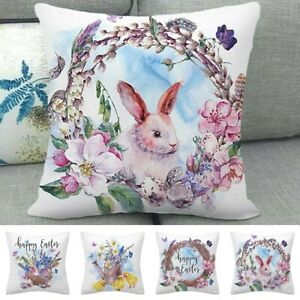 Easter Pillow Cases Dyeing Sofa Bed Home Decor Pillow Cover Cushion Cover Gift