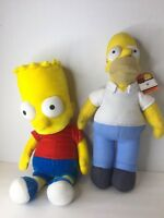 Nanco The Simpsons Bart Homer Large Soft Stuffed Plush Dolls Toys Lot Of 2