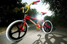 "Factory Hustler Retro BMX Bike Bicycle Old School Replica Mag 20"" Wheels"