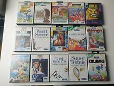 Sega master system jeux - 15 pièces, Hulk, Schtroumpfs, Laser Ghost, Rampart