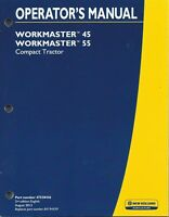 NEW HOLLAND Workmaster 45, 55 TRACTOR OPERATOR MANUAL 47538436*