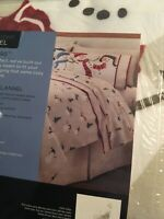 BRAND NEW! Cuddl Duds Warm Heavy Flannel Full Size Sheet Set Cute SNOWMEN