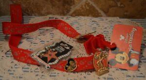 DISNEYANA~PINS~PASSHOLDER PIN~LIMITED EDITION PIN~THE GOLDEN MICKEY PIN~LANYARD