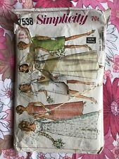 SIMPLICITY 7583 sewing pattern 1968 COMPLETE vintage retro Miss Wedding Dress60s