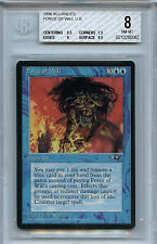 MTG Alliances Force of Will  BGS 8.0 NM-MT Magic The Gathering WOTC 0062