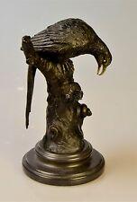 Scultura in Bronzo Aquila Uccelli Bronzo Figura Scultura
