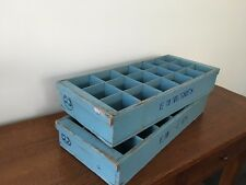 Vintage 2 x Wooden Storage Crates with Compartments-Circa 1960's-Decorater Piece