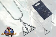 HARRY POTTER Collana Argento DONI DELLA MORTE 100% Original Deathly Hallows