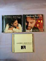 Andrea Bocelli Classical CD Lot of 3 (Viaggio Italiano Sacred Arias Aria Opera)